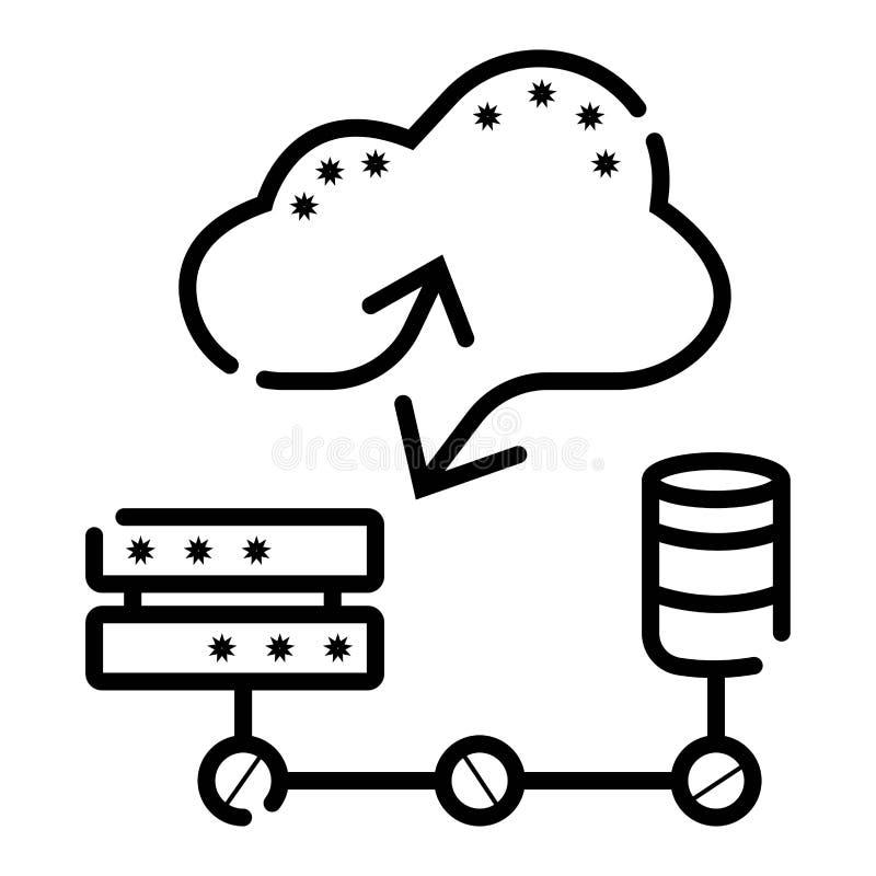 Cloud database icon stock illustration  Illustration of