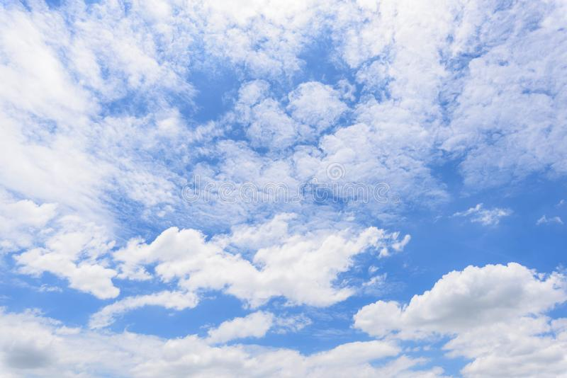 Cloud disappear in the hot sun. On blue sky royalty free stock image