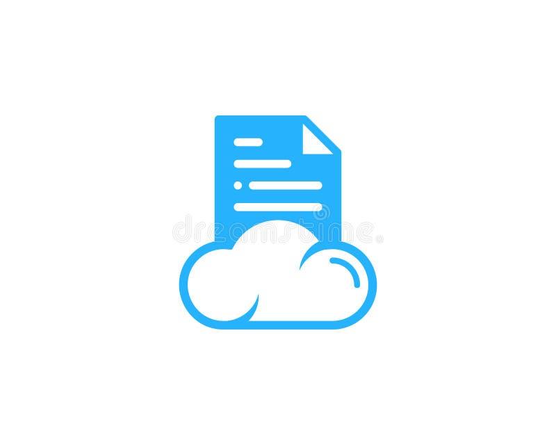 cloud document icon logo design element stock vector illustration rh dreamstime com logo database png logo database tablo isimleri