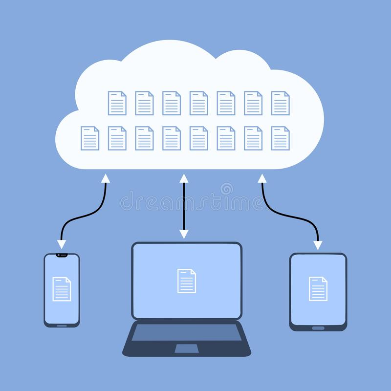 Online cloud royalty free stock photo