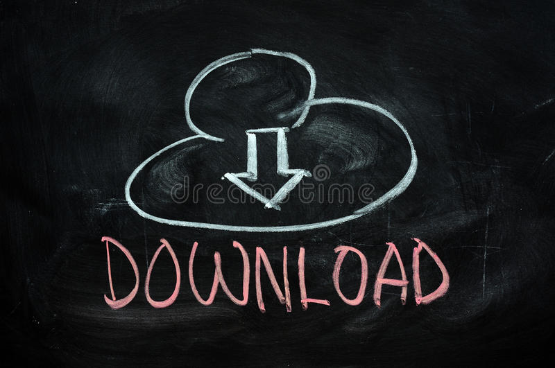 Cloud download stock photography