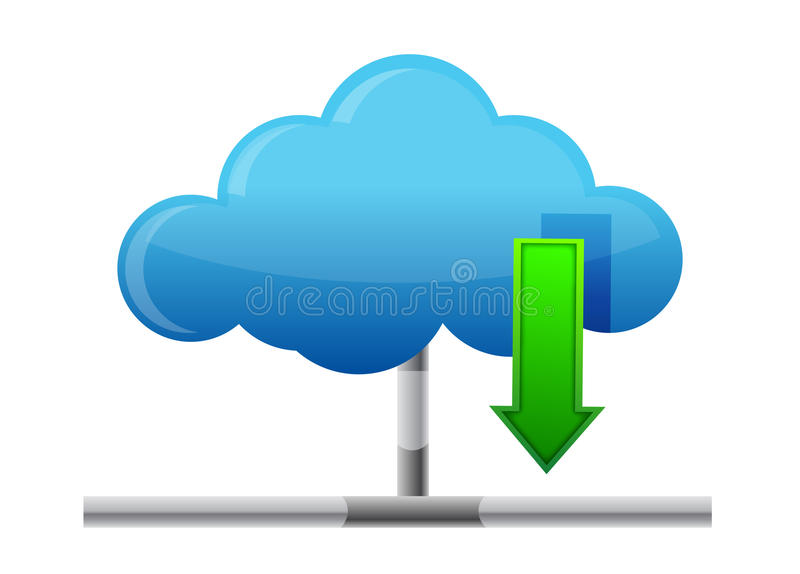 Cloud Download Icon Stock Images