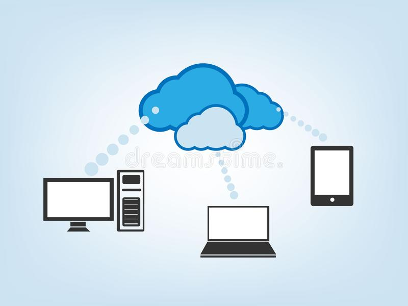 Cloud Drive Vector Illustration Stock Photography