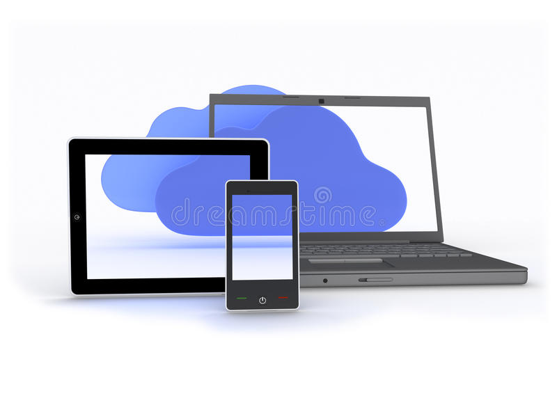 Download Cloud Enabled Devices stock illustration. Image of communication - 27019535