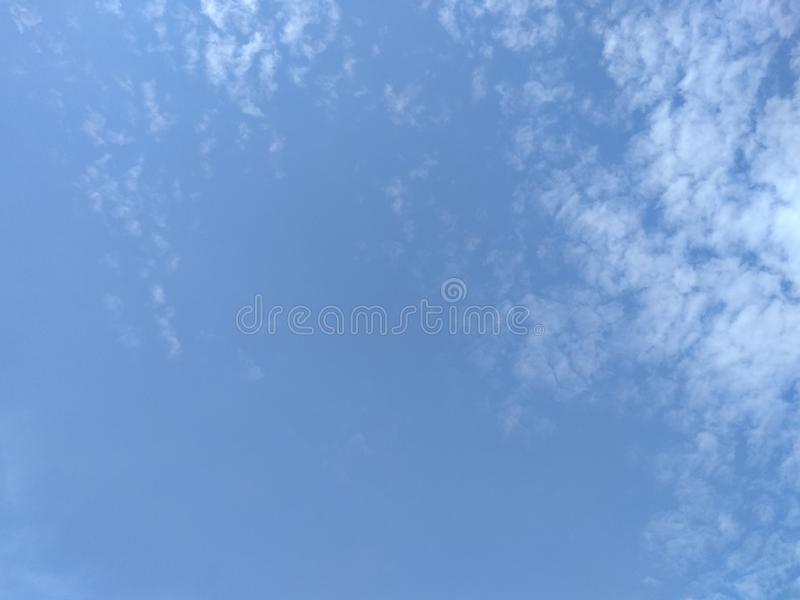 The cloud floating in the sky. Outdoor, blue, space royalty free stock images
