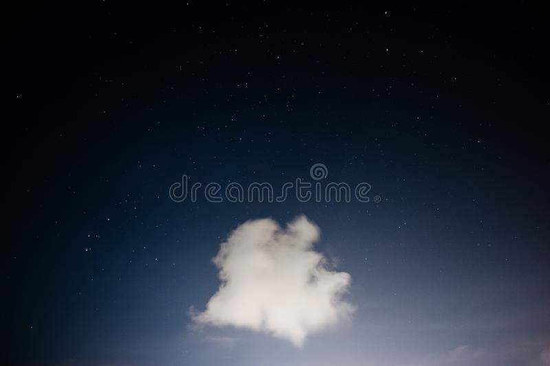 Cloud Floating In Starry Night Sky Free Public Domain Cc0 Image