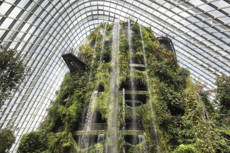 Download Cloud Forest Dome, Garden By The Bay, Singapore Editorial Stock  Photo   Image