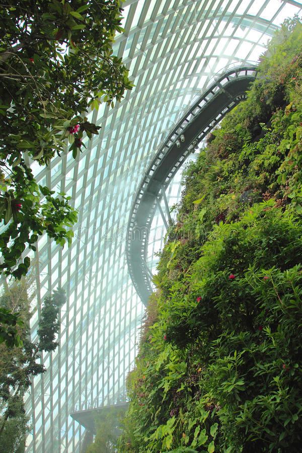 Cloud Forest, Gardens by the Bay. stock image