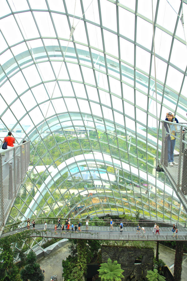 Cloud Forest, Gardens by the Bay. royalty free stock photos