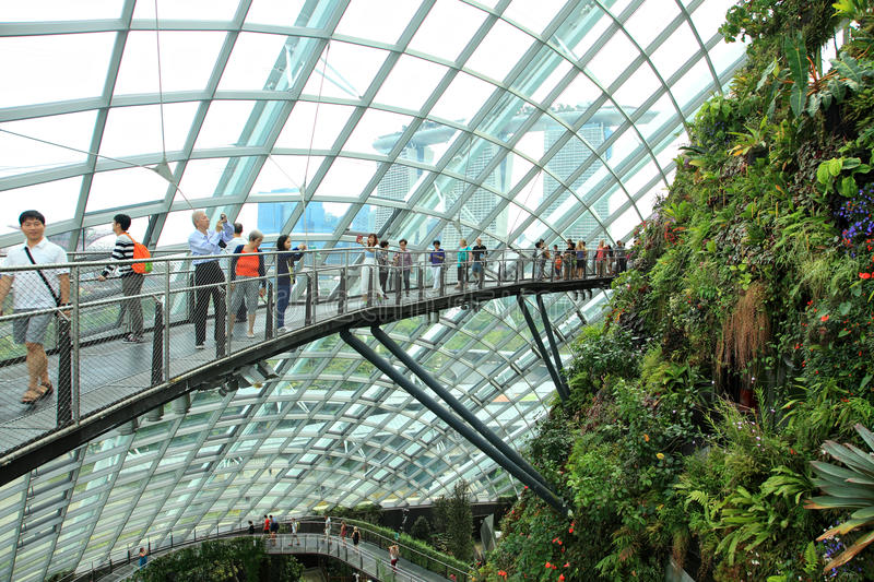 Cloud Forest, Gardens by the Bay. stock images