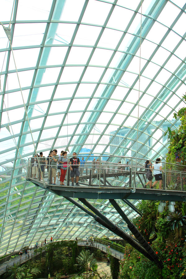 Cloud Forest, Gardens by the Bay. stock photos