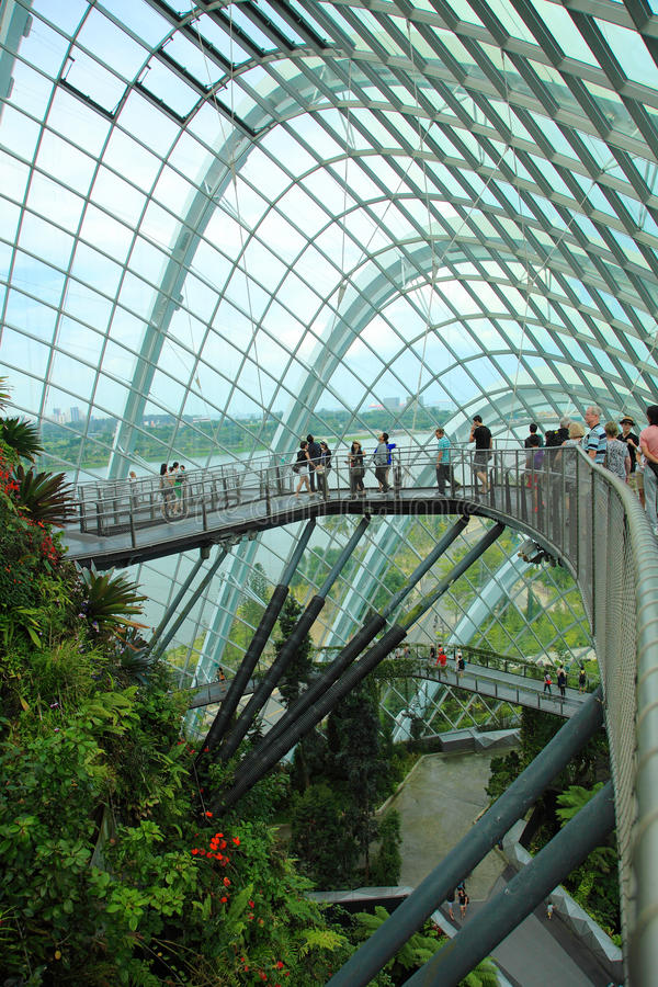 Cloud Forest, Gardens by the Bay. royalty free stock images