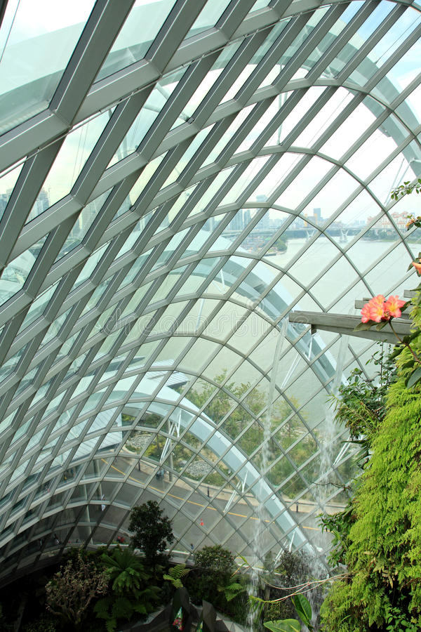 Cloud Forest, Gardens by the Bay. stock photography
