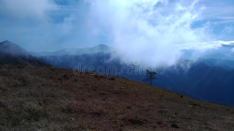 Sea of cloud royalty free stock photography