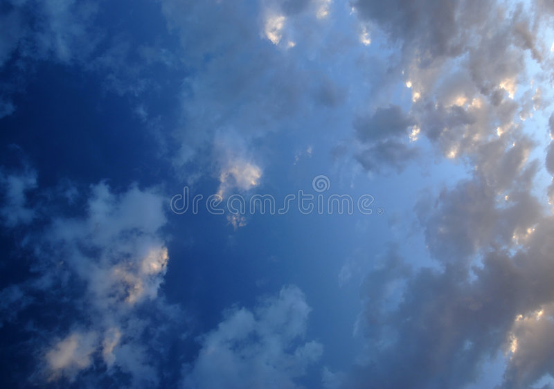 Cloud formations. Ever changing cloud formations in our heavenly skys royalty free stock image