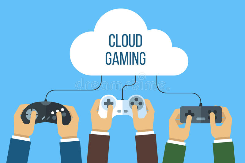 Cloud gaming concept royalty free illustration