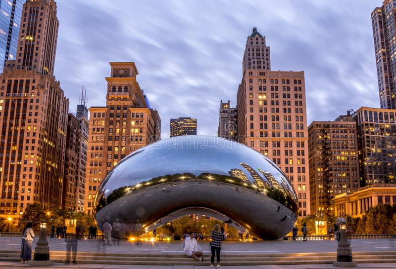 The Cloud Gate royalty free stock image