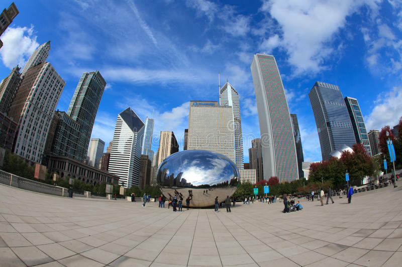 Download Cloud Gate Sculpture In Chicago Editorial Photography - Image: 18870022