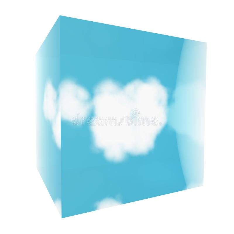 Download Cloud in glass cube stock illustration. Image of steam - 21234022