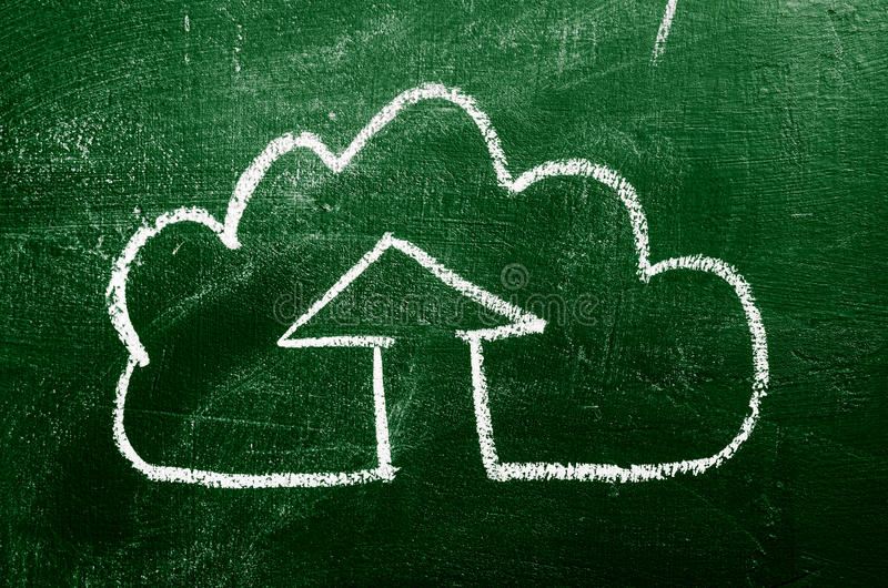 Download IT cloud on chalk board stock image. Image of download - 29718981