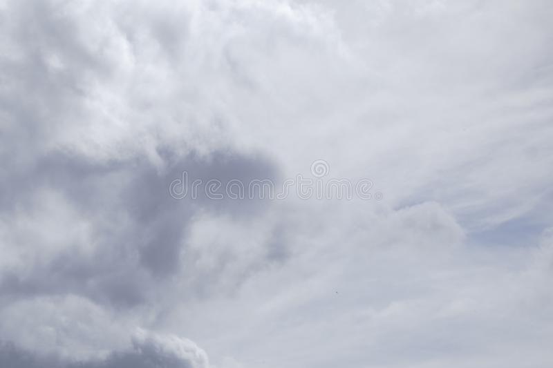 Cloud in grey sky background.  royalty free stock photo