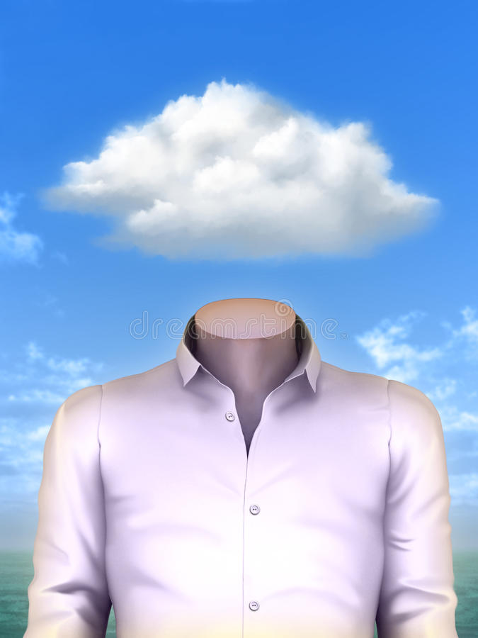 Cloud Head royalty free illustration