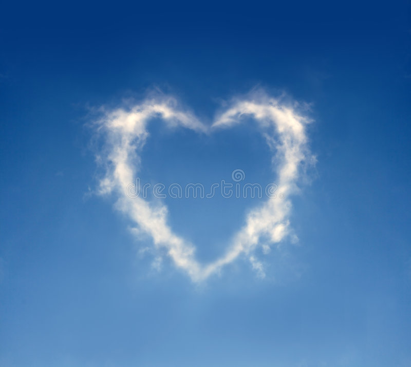 Cloud heart royalty free stock image