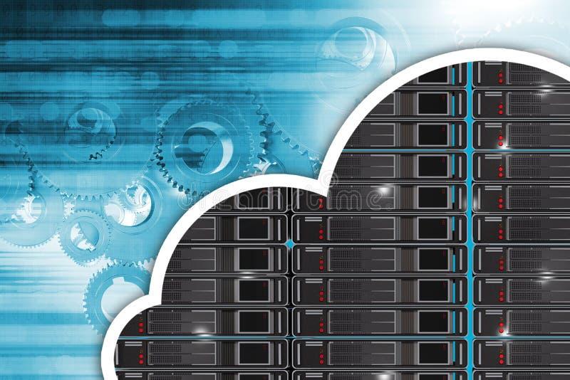 Cloud Hosting Concept vector illustration