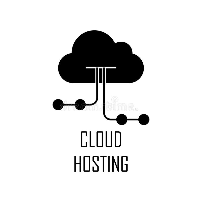 Cloud hosting icon. Element of Web Development for mobile concept and web apps. Detailed cloud hosting icon can be used for web an. D mobile. Premium icon on stock illustration