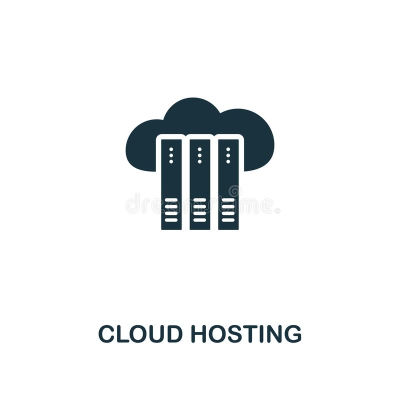 Cloud Hosting icon. Premium style design from web hosting icon collection. Pixel perfect Cloud Hosting icon for web. Cloud Hosting icon. Premium style design stock illustration