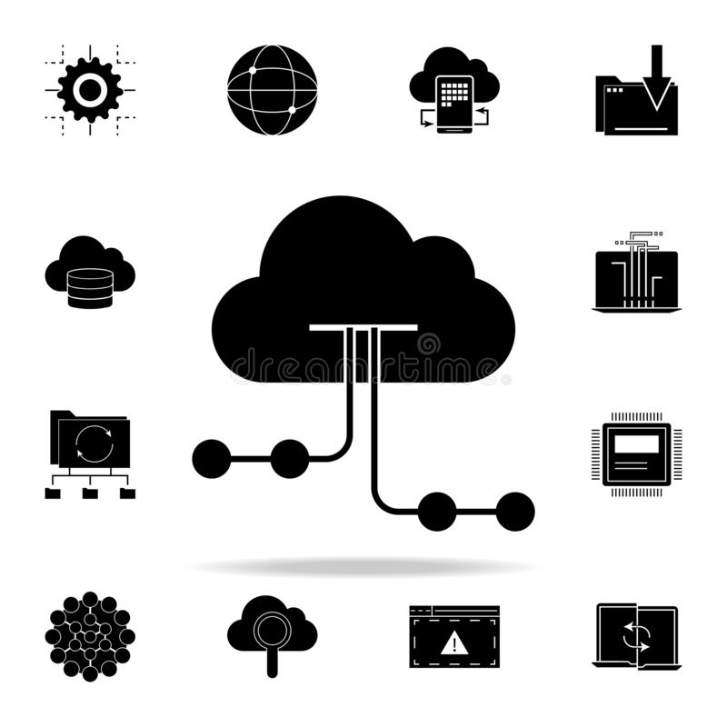 Cloud hosting icon. Web Development icons universal set for web and mobile. On white background royalty free illustration
