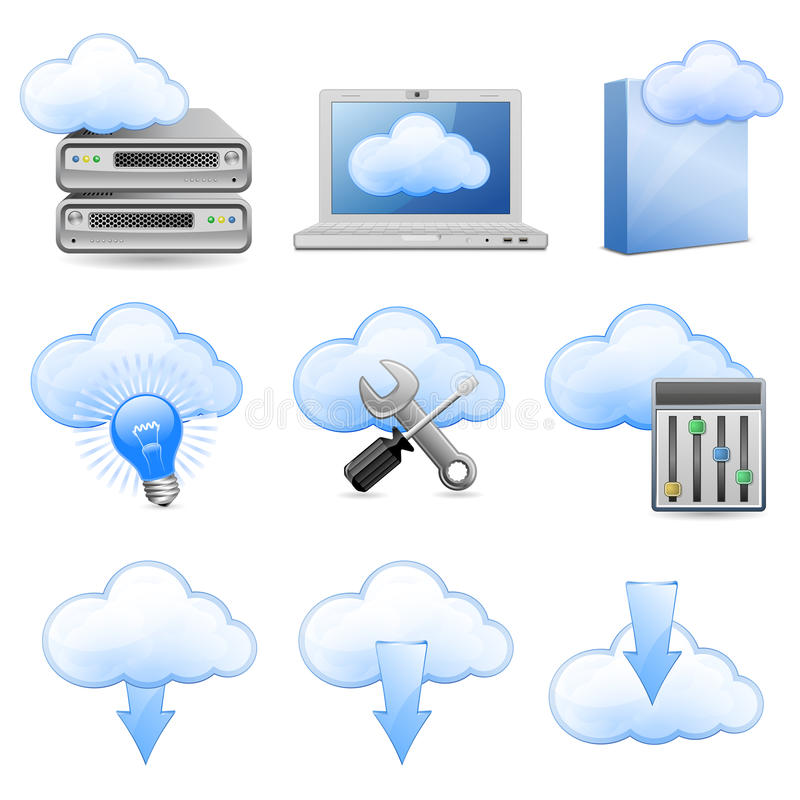 Download Cloud Hosting Icons Stock Photography - Image: 19582912