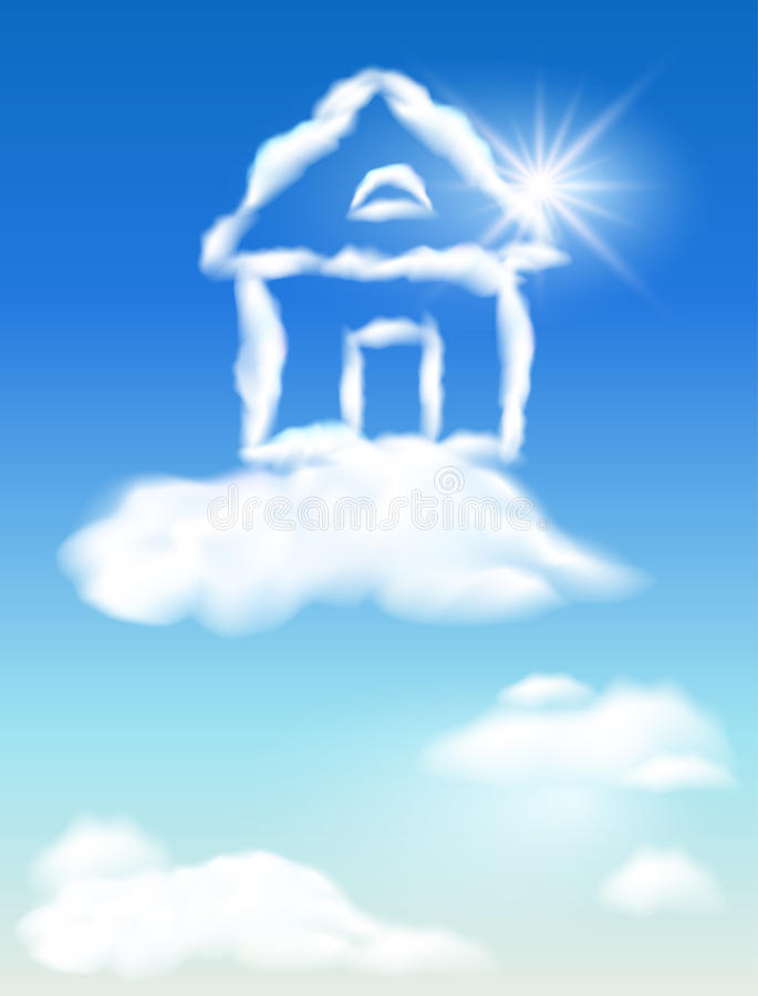 Cloud house in the sky