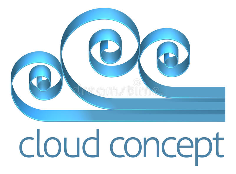 Cloud Icon Concept stock illustration
