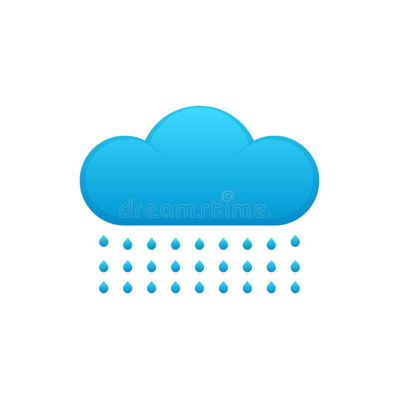Cloud icon with rain vector illustration