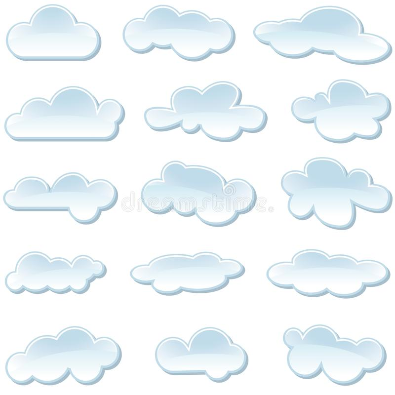 Download Cloud Icons stock vector. Image of meteorology, cloud - 25842794