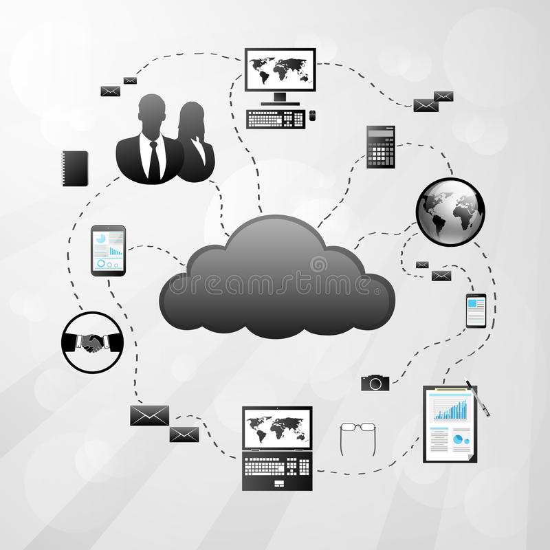 Cloud internet connection icon Vector Illustration vector illustration