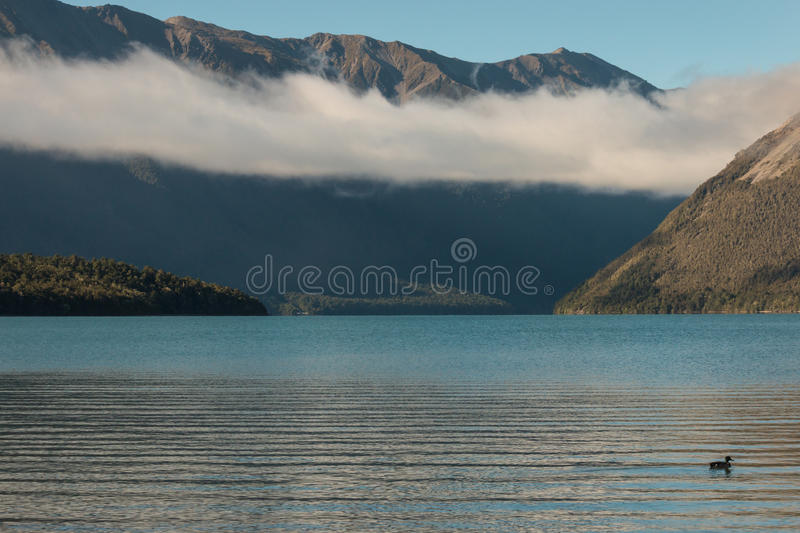 Cloud inversion above lake Rotoiti. New Zealand royalty free stock images