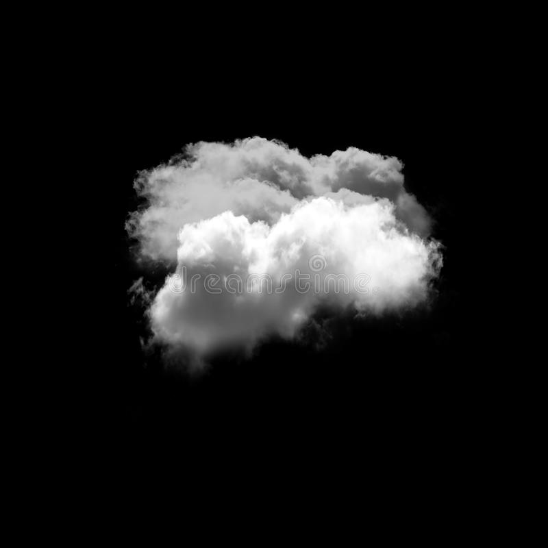 Cloud isolated over black background stock images
