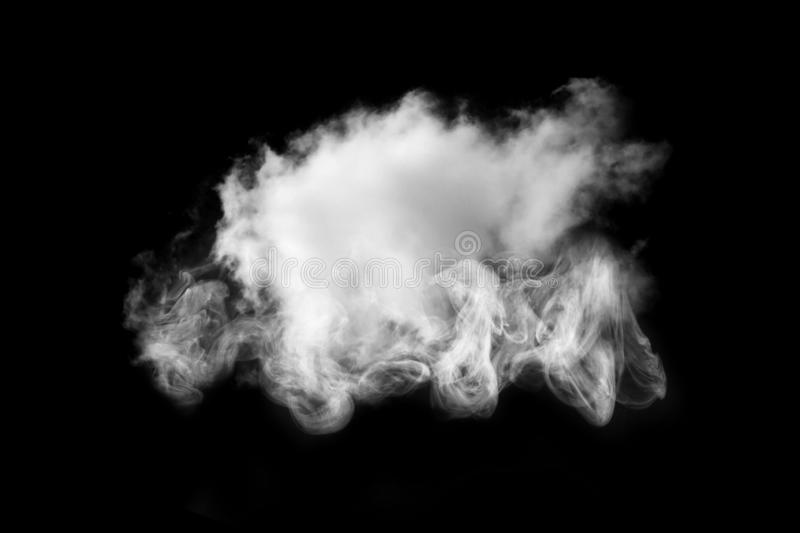 Cloud Isolated with powder on black background,Smoke Textured,Abstract black royalty free stock images
