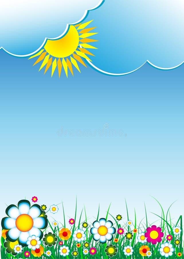 cloud kwiecistego tło ilustracja wektor