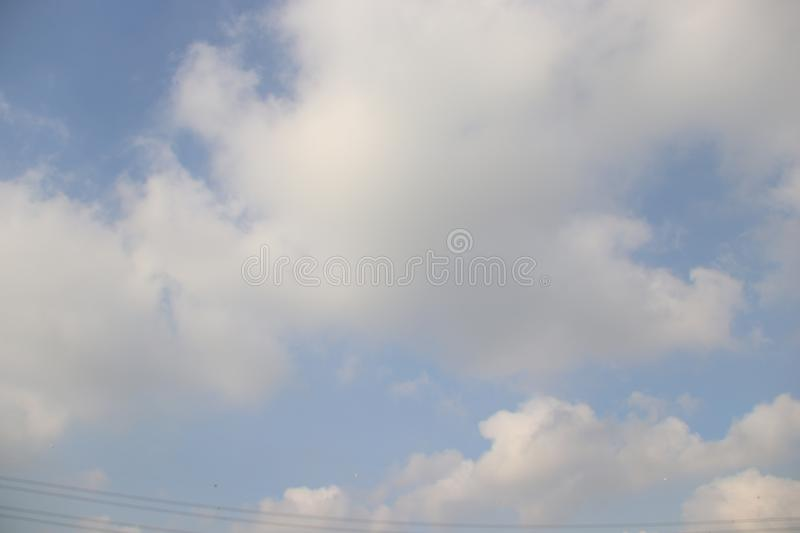 Cloud with landscape royalty free stock photo