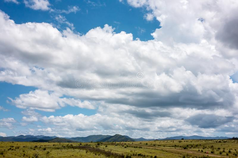 Cloud with landscape royalty free stock images