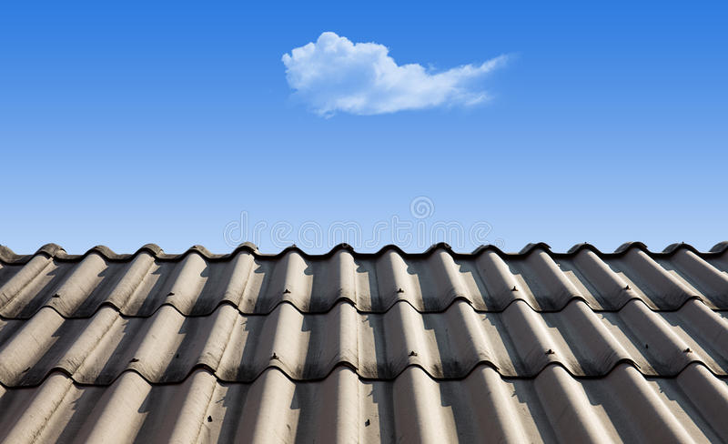 Cloud is levitate over roof royalty free stock images