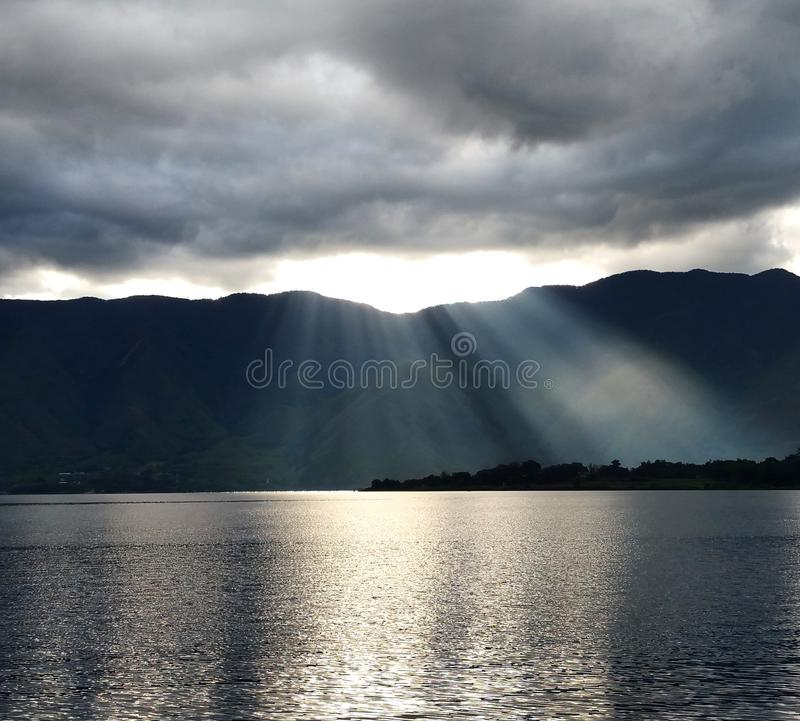 Cloud Light Down stock photography
