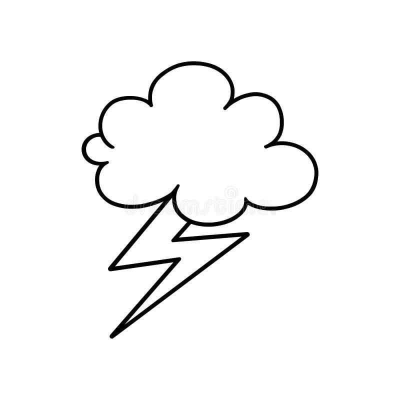 Cloud and lightning bolt outline symbol stock illustration download cloud and lightning bolt outline symbol stock illustration illustration of cold black voltagebd Choice Image