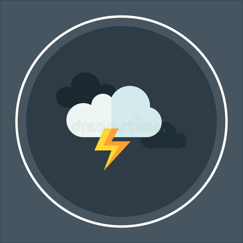 Cloud lightning icon thunder storm flat Vector icon vector illustration