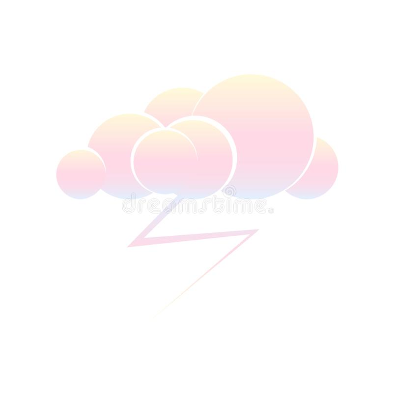 Cloud with storm lightning stock illustration