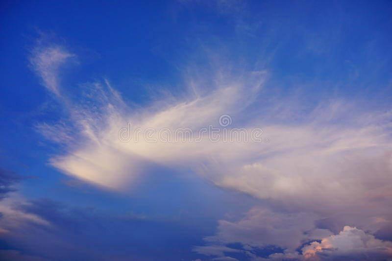 Jesus cloud. Cloud like jesus, taken in Tampa, florida stock photography