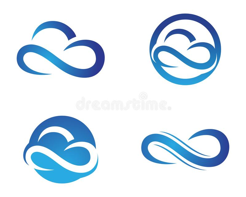 Cloud logo and symbols template icons app server logo. Cloud logo and symbols template icons app server royalty free illustration